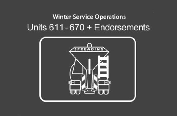 Winter Service Operations (Operative Units & Endorsements)
